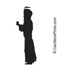 magi silhouette icon - flat design magi silhouette icon...