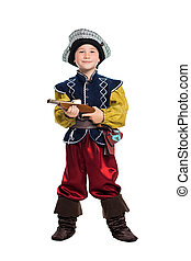 Smiling boy dressed as pirate