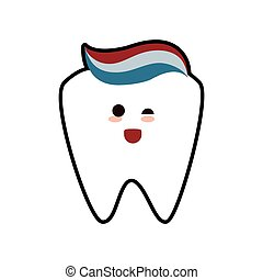 tooth paste dental care health hygiene icon Vector graphic -...