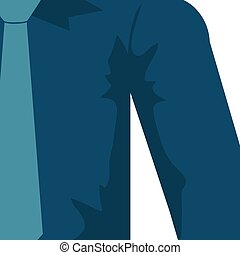 necktie shirt blue cloth male man icon Vector graphic -...