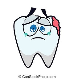tooth dental care health hygiene icon Vector graphic - tooth...