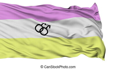 Twink Pride Close Up Waving Flag - Twink Pride Flag, Close...