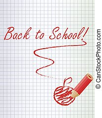 Back to school red background - Back to school background...