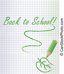 Back to school background green - Back to school background...