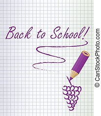 Back to school background purple - Back to school background...