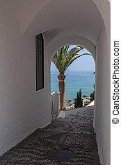 Balcon de Europa in Nerja- Nerja is famous resort on Costa...
