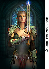 Oath Keeper, 3d CG - 3d computer graphics of a fairy with a...