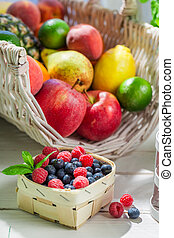 Healthy smoothie with fruits