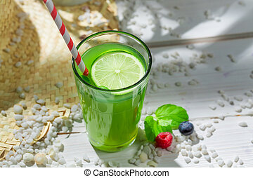Sweet smoothie with fruits