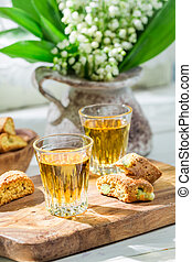 Delicious cantuccini with Vin Santo