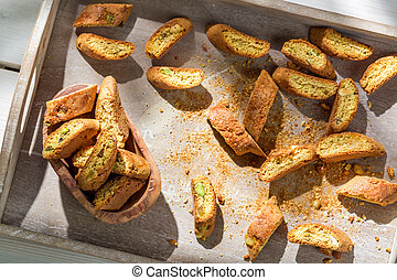 Italian cantuccini with Vin Santo