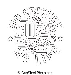 Cricket sport game graphic design concept - Cricket game...