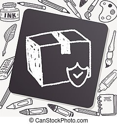 shipping box doodle