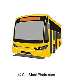intercity bus - Illustration intercity bus in the state of...