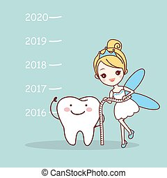 tooth note with tooth fairy - cute cartoon tooth note with...
