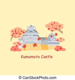 cartoon japan kumamoto castle - cute cartoon japan kumamoto...