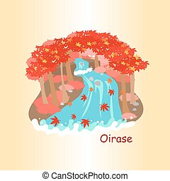 cute cartoon japan oirase, great for travel