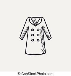 Coat sketch icon.