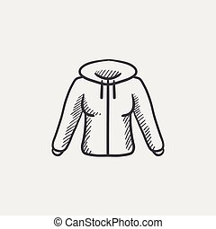 Hoodie sketch icon - Hoodie sketch icon for web, mobile and...