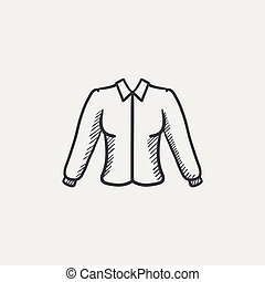 Female blouse sketch icon. - Female blouse sketch icon for...