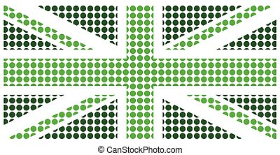 Green United Kingdom Flag - Green United Kingdom flag...