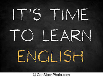 it's time to learn english