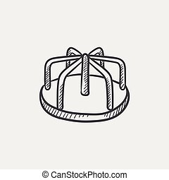 Merry-go-round sketch icon. - Merry-go-round sketch icon for...