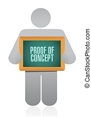 proof of concept sign concept illustration design graphic