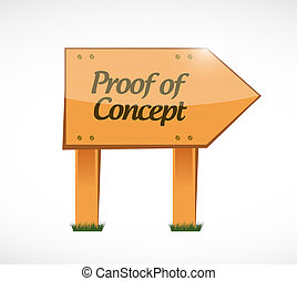 proof of concept wood sign concept illustration design...