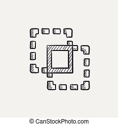 Crop sketch icon - Crop sketch icon for web, mobile and...