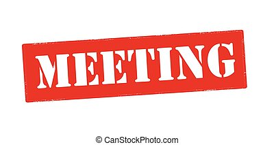 Meeting - Rubber stamp with word meeting inside, vector...