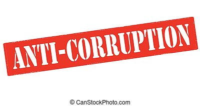 Anti corruption - Rubber stamp with text anti corruption...