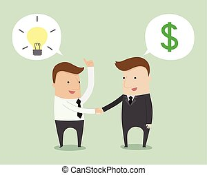 Business negotiation ,vector illustration cartoon