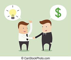 Business negotiation ,vector illustration cartoon