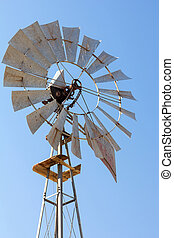 Windmill for Water Well Pump Closeup