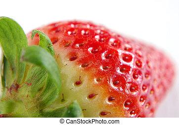 Nahaufnahme einer Erdbeere