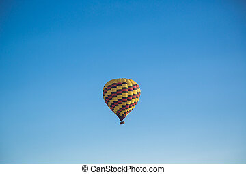 caliente, Aire, cielo, encima, globo