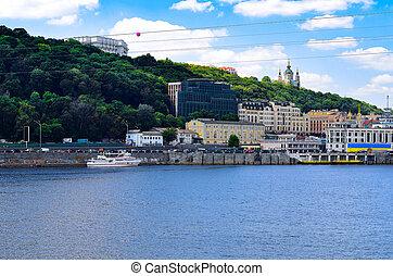 View of Kiev over the Dnieper. Ukraine