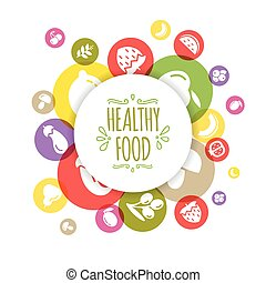 Healty food background representing. vegetables and fruits...