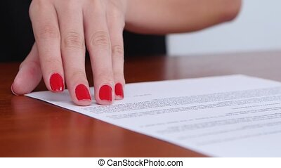 Girl refuses the terms of the contract and puts the...