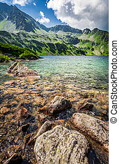 Beautiful pond in the Tatra Mountains