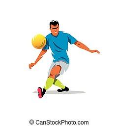 Vector Soccer player Cartoon Illustration.