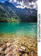 Pond in the Tatra Mountains at summer