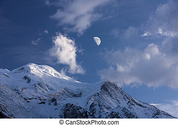 Mont Blanc - On this day, was clearly visible snowy peak of...