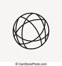 global pictograph icon - global internet connecting icon of...
