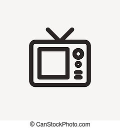 television outline icon