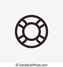 lifeline outline icon - lifeline icon of brown outline for...
