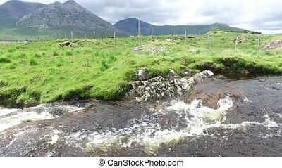 view to river and hills at connemara in ireland 33 - nature...