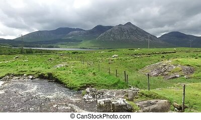 view to river and hills at connemara in ireland 37 - nature...