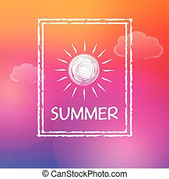 summer with sun in frame, vector